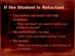 if the student is reluctant1