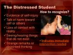 the distressed student2