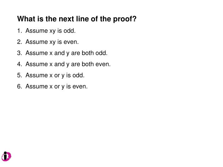 What is the next line of the proof?