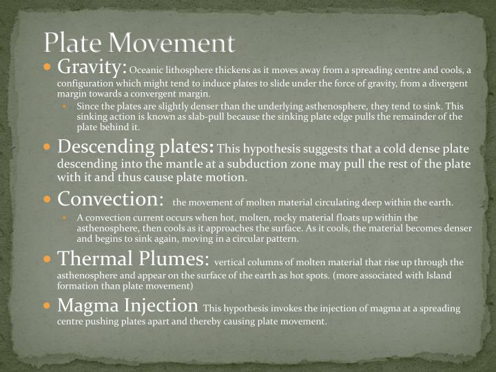 plate movement n.