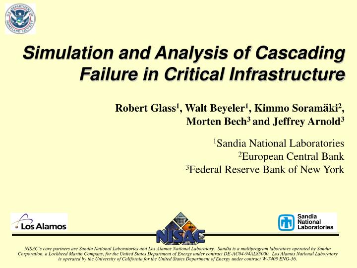 simulation and analysis of cascading failure in critical infrastructure n.