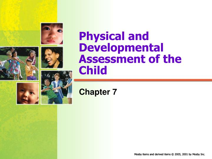 physical and developmental assessment of the child n.