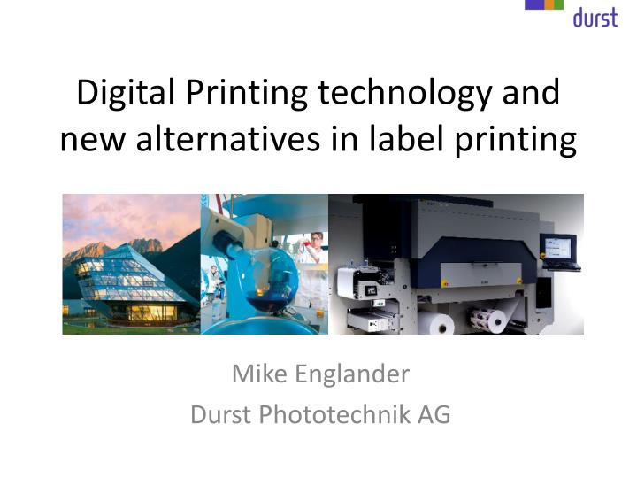 digital printing technology and new alternatives in label printing n.
