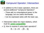compound operator intersection