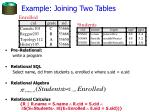 example joining two tables
