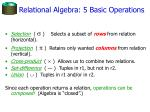relational algebra 5 basic operations