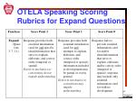 otela speaking scoring rubrics for expand questions1