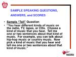 sample speaking questions answers and scores1
