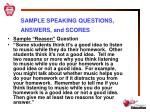 sample speaking questions answers and scores3