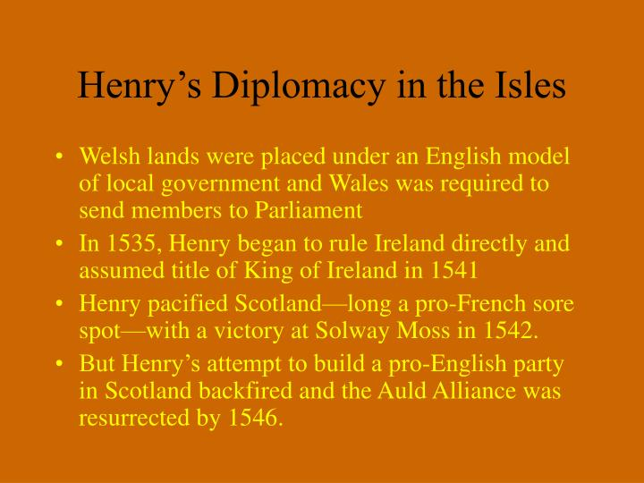 Henry's Diplomacy in the Isles