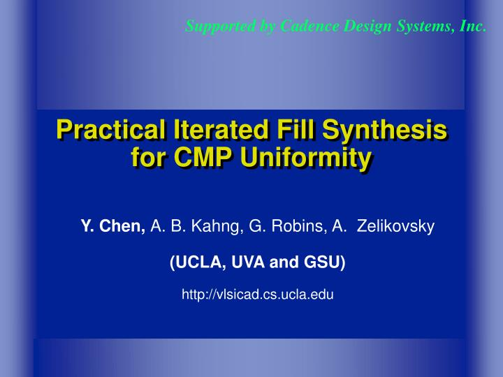 practical iterated fill synthesis for cmp uniformity n.