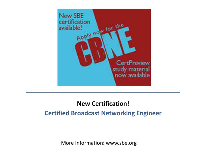 New Certification!