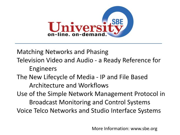 Matching Networks and Phasing
