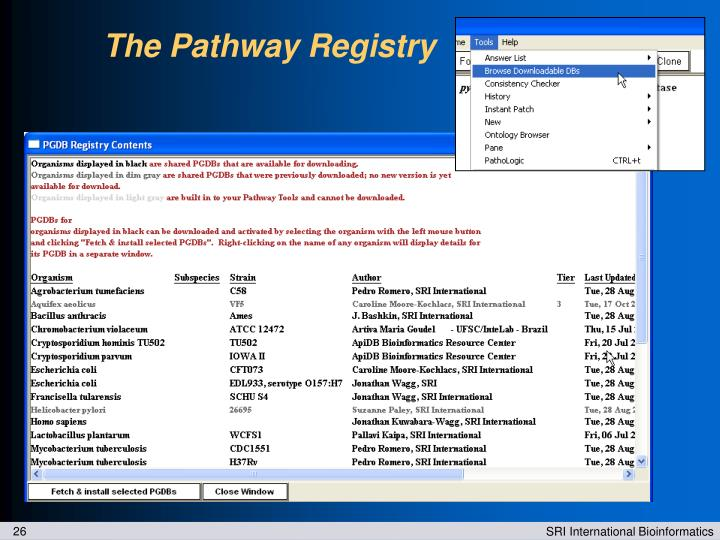 The Pathway Registry