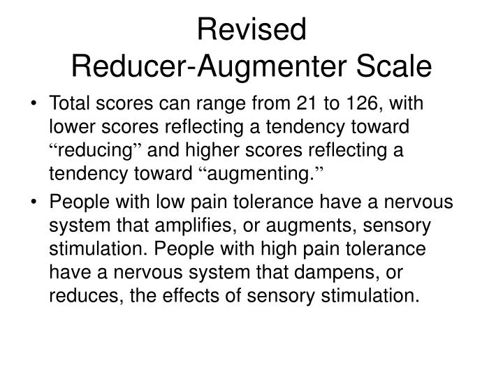revised reducer augmenter scale n.