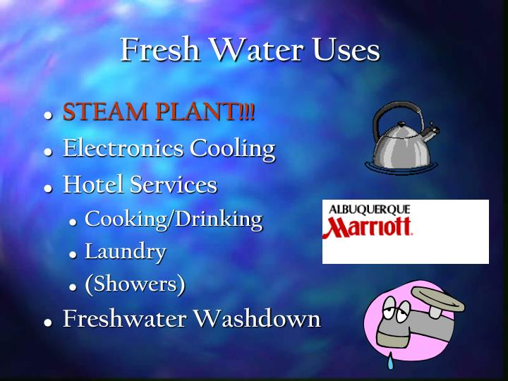 Fresh Water Uses