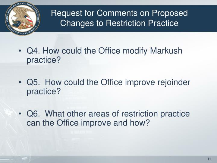 Q4. How could the Office modify