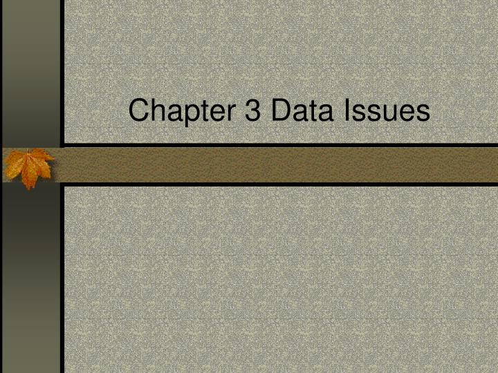 chapter 3 data issues n.