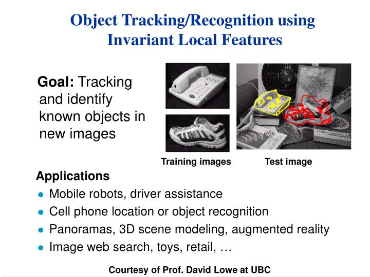 object tracking recognition using invariant local features n.