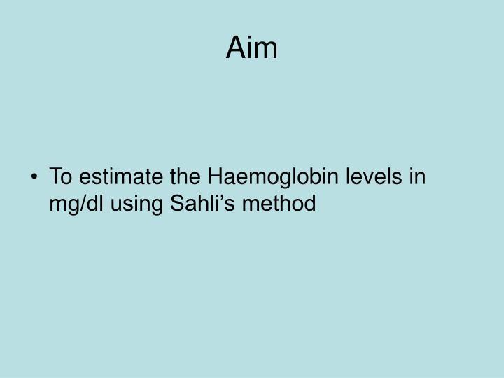 hb estimation procedure