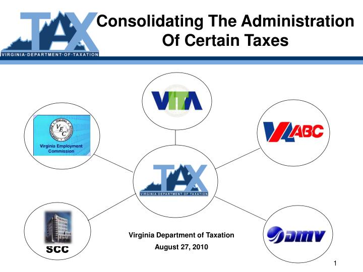 consolidating the administration of certain taxes n.