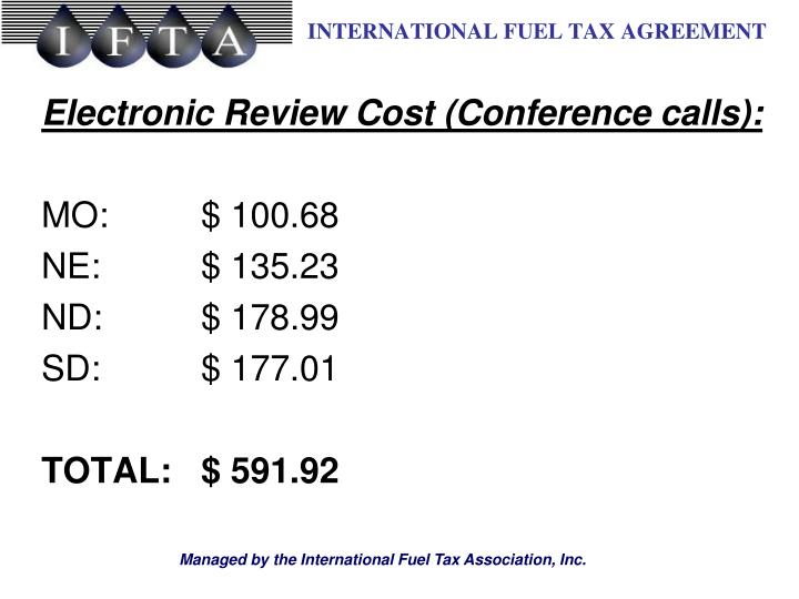 Electronic Review Cost (Conference calls):