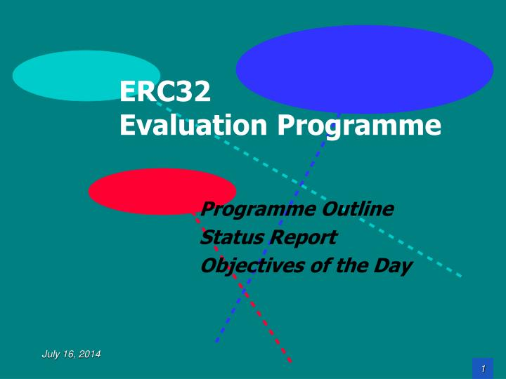 erc32 evaluation programme n.