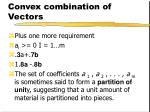 convex combination of vectors