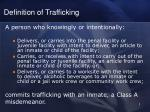 definition of trafficking