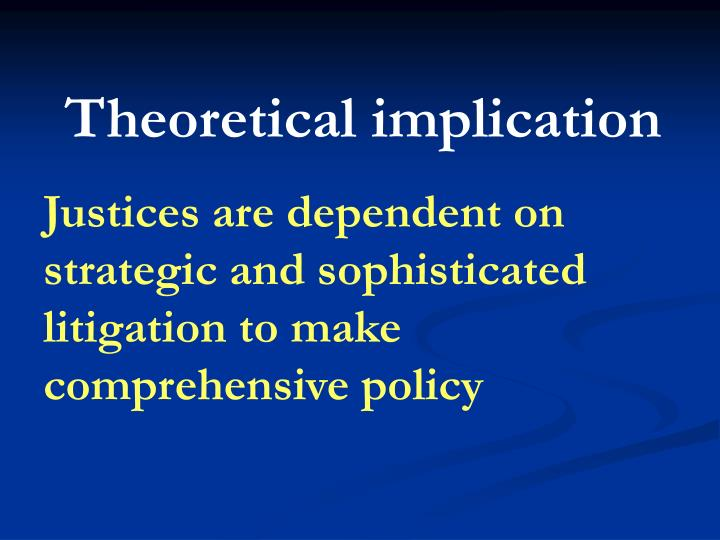 Theoretical implication