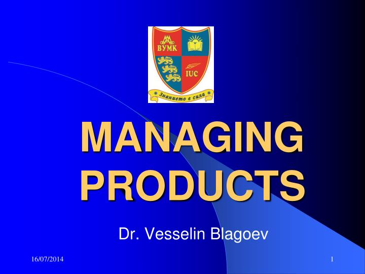 managing products n.