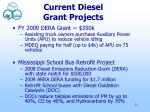 current diesel grant projects