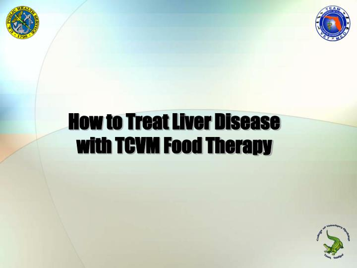 how to treat liver disease with tcvm food therapy n.