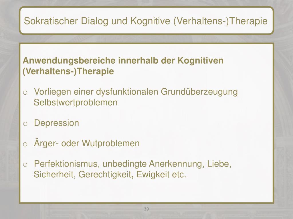 Ppt Interventionstechniken Kognitiv Behaviorale Ansatze I Sokratischer Dialog Powerpoint Presentation Id 1821402