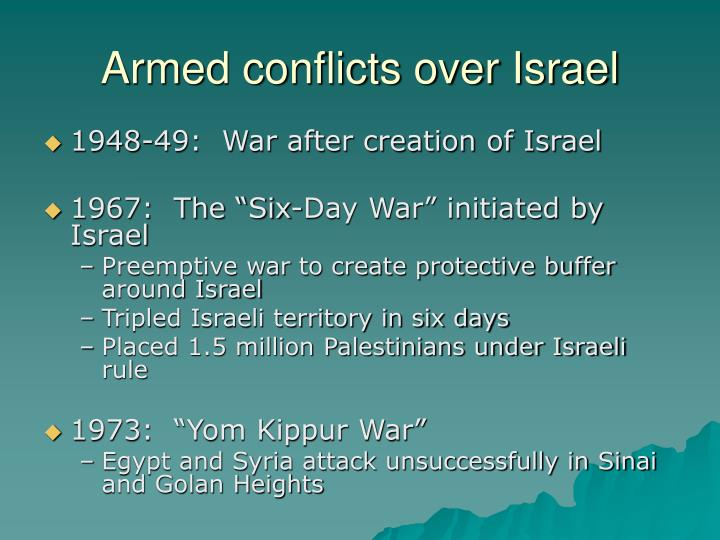 Armed conflicts over Israel