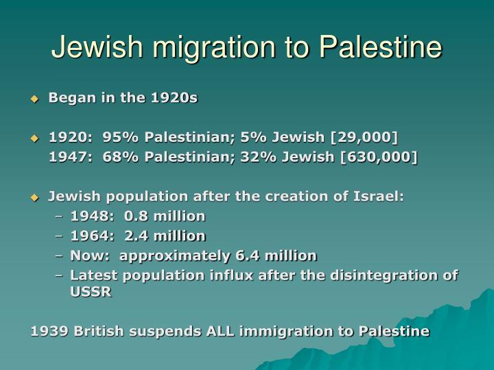 Jewish migration to Palestine