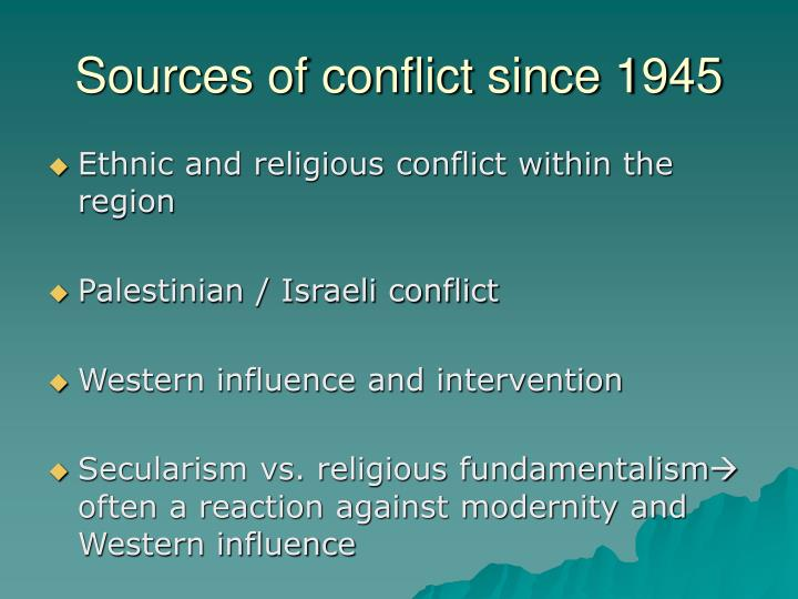 Sources of conflict since 1945
