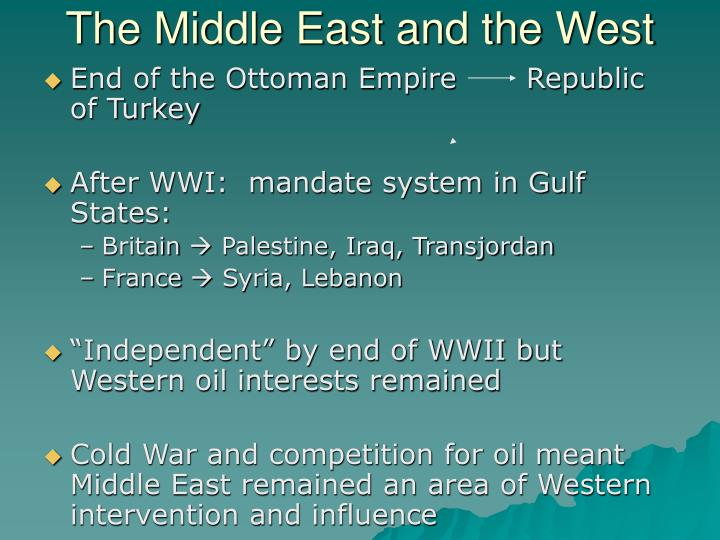 The Middle East and the West