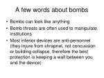 a few words about bombs