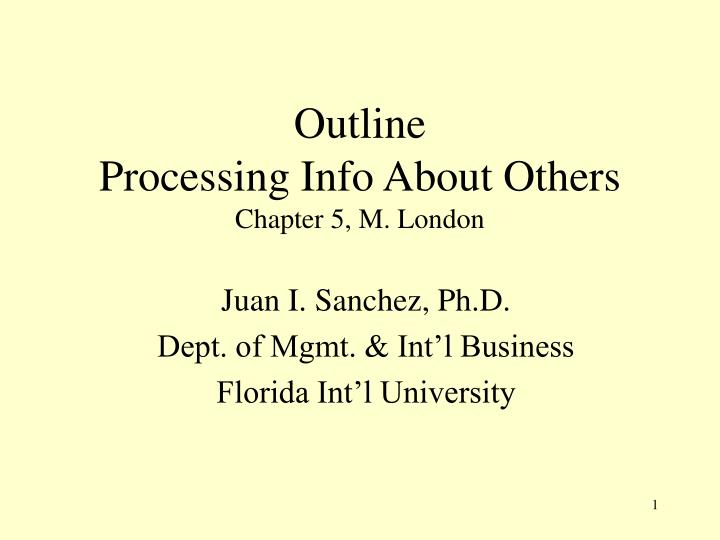 outline processing info about others chapter 5 m london n.