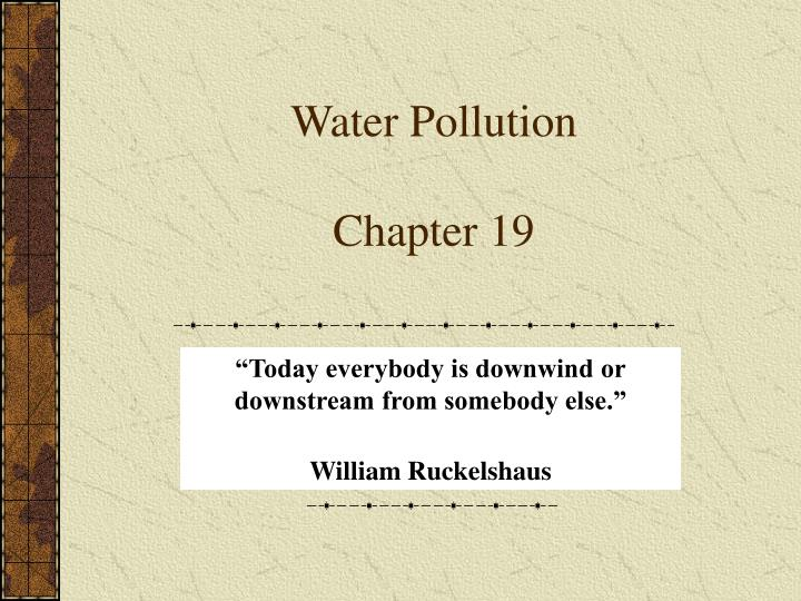 water pollution chapter 19 n.