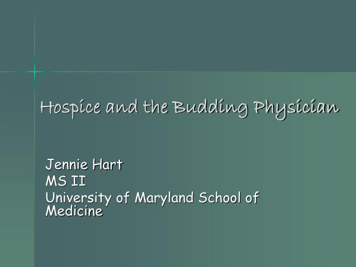 hospice and the budding physician n.