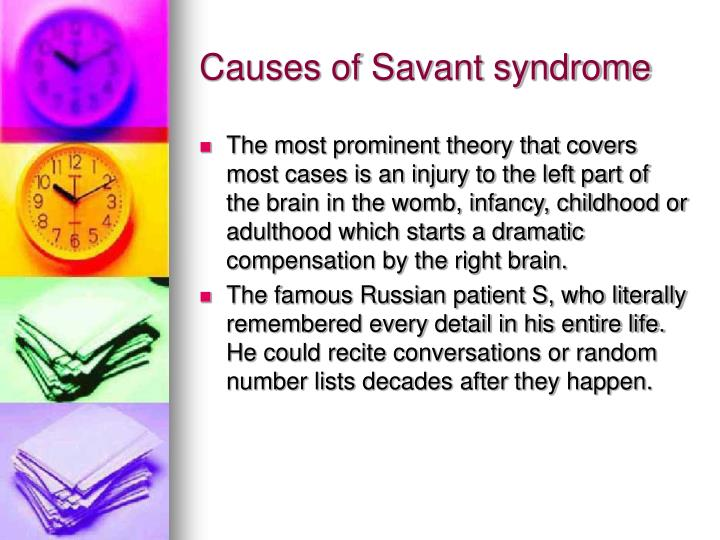 Causes of Savant syndrome
