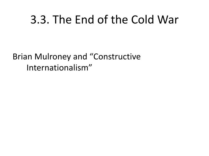 3 3 the end of the cold war n.