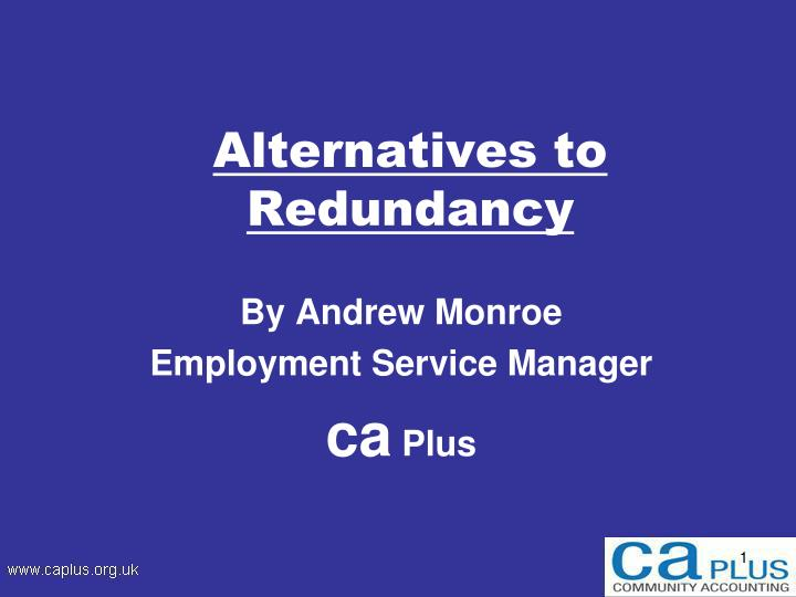 alternatives to redundancy n.
