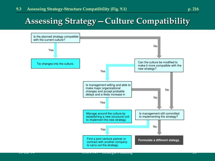 9.3	Assessing Strategy-Structure Compatibility (Fig. 9.1)	p. 216