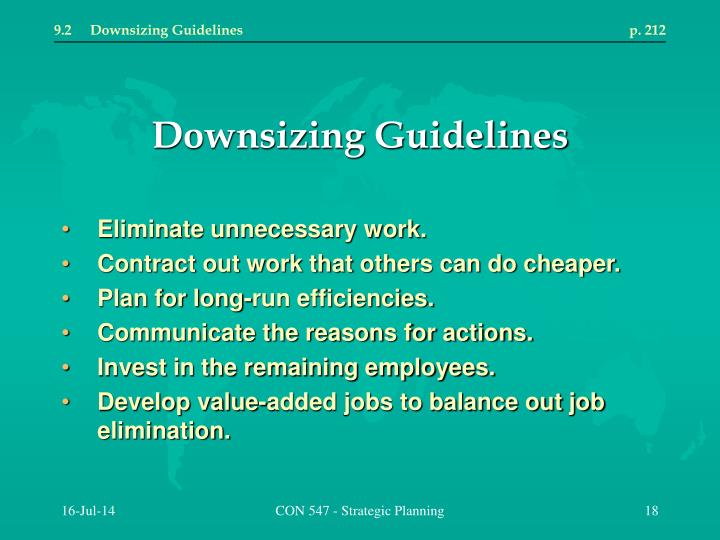 9.2	Downsizing Guidelines	p. 212