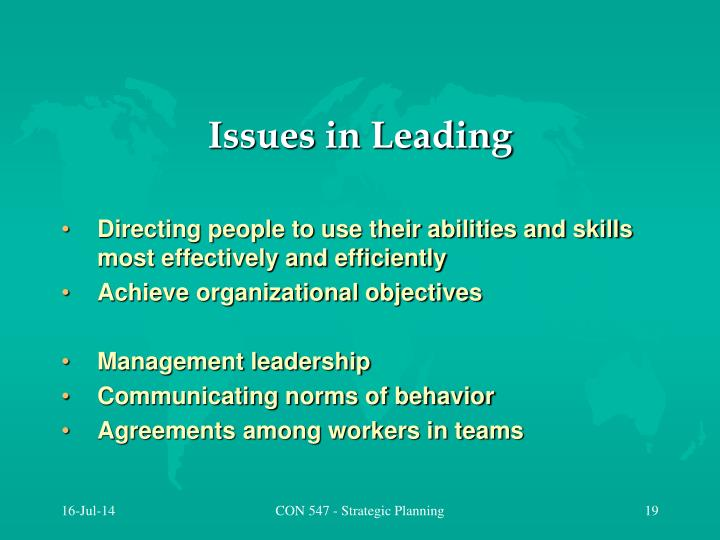 Issues in Leading