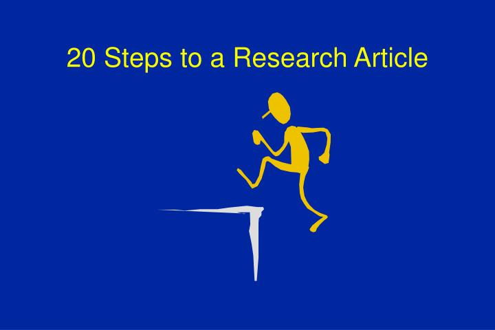 20 steps to a research article n.