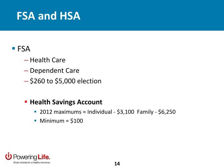 FSA and HSA
